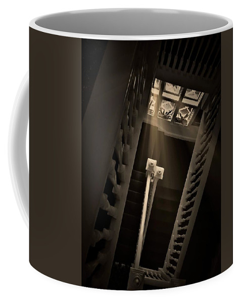 Old Coffee Mug featuring the photograph Stairway Light, Redstone Castle, Colorado by Zayne Diamond Photographic