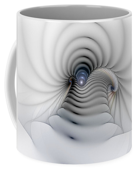 Abstract Coffee Mug featuring the digital art Stairway To Heaven by Casey Kotas