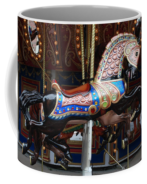 Pop Art Coffee Mug featuring the photograph Stallion by Rob Hans