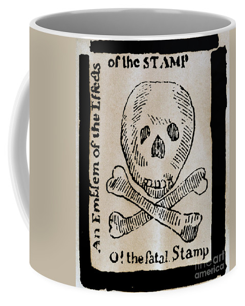 1765 Coffee Mug featuring the photograph Stamp Act: Cartoon, 1765 by Granger