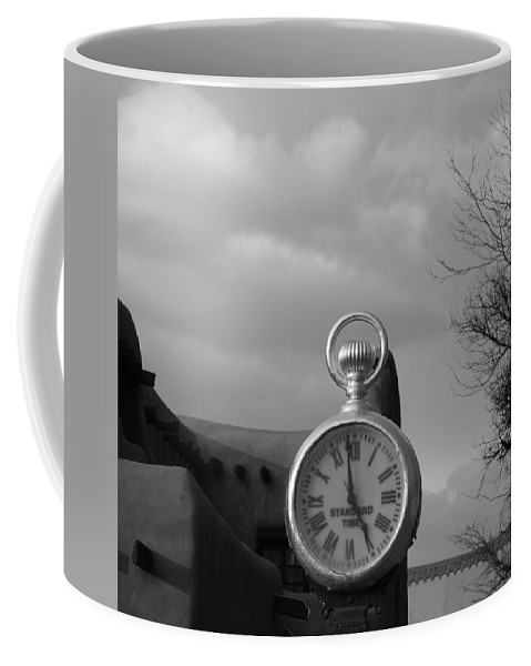 Black And White Coffee Mug featuring the photograph Standard Time by Rob Hans