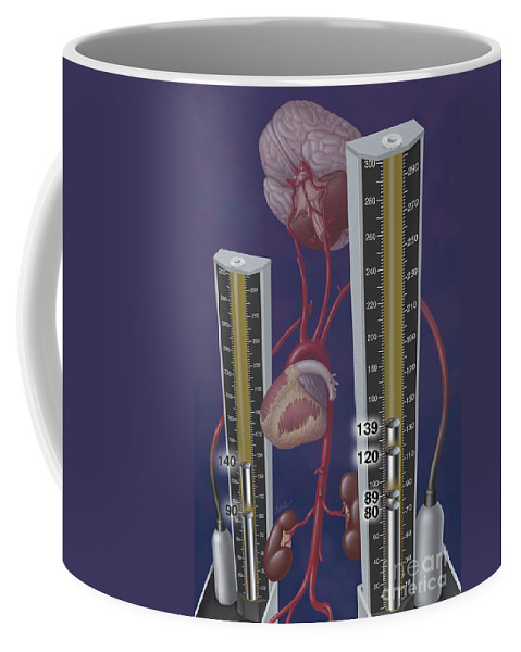 Editorial Illustration Coffee Mug featuring the photograph Standards For Hypertension, Illustration by DNA Illustrations