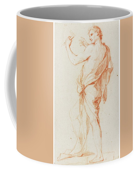 Charles-joseph Natoire Coffee Mug featuring the digital art Standing Man In Profile To The Left by Mark Carlson