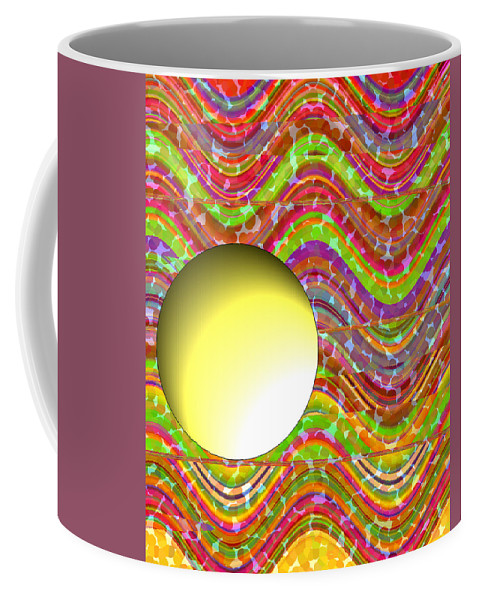 ruth Palmer Coffee Mug featuring the painting Standing Out From The Crowd by Ruth Palmer