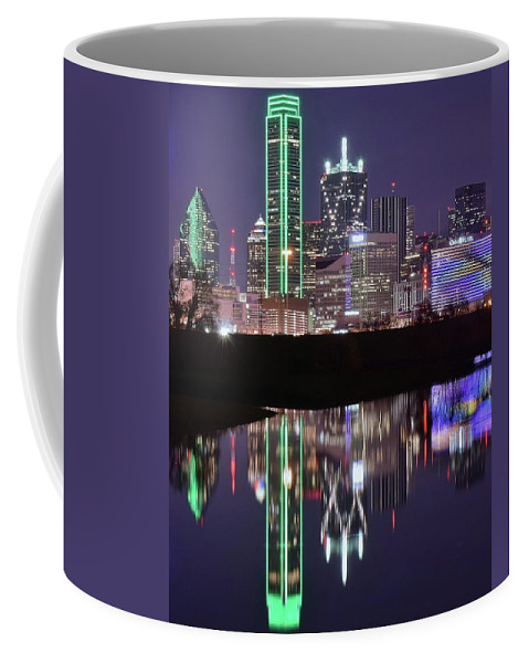 Dallas Coffee Mug featuring the photograph Standing Tall In Dallas by Frozen in Time Fine Art Photography