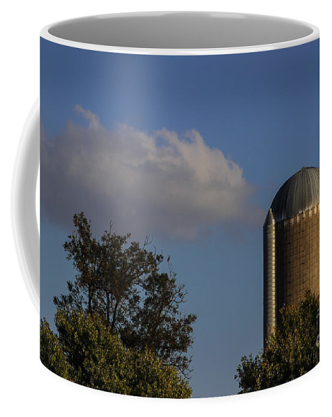 Silo Coffee Mug featuring the photograph Standing Tall by Laura Deerwester