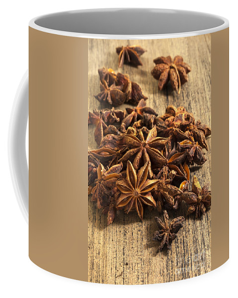 Anise Coffee Mug featuring the photograph Star Anise by Julie Woodhouse