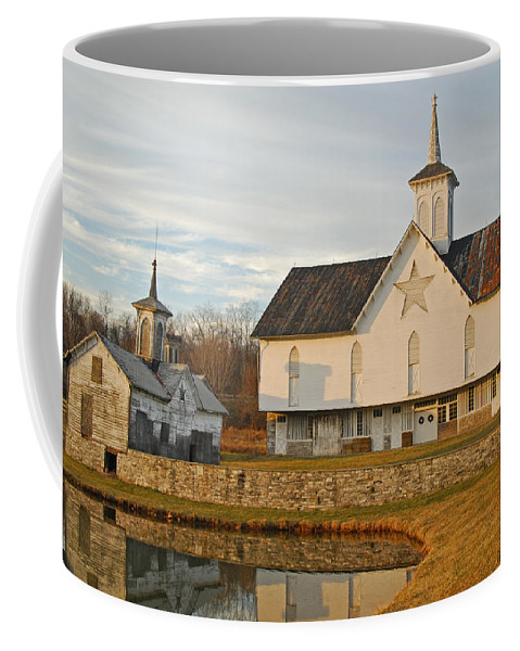Star Barn Coffee Mug featuring the photograph Star Barn Sunset by Craig Leaper