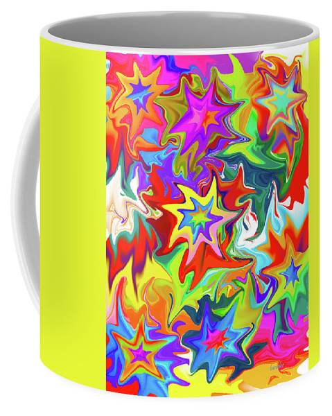 Abstract Coffee Mug featuring the digital art Star by Betsy Knapp