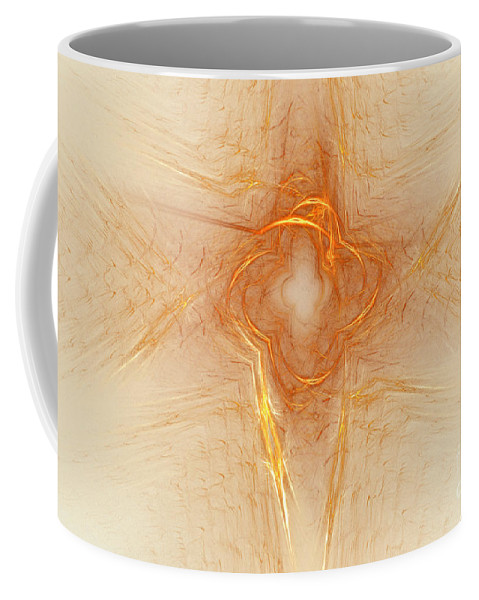 Abstract Coffee Mug featuring the digital art Star In Abstract by Deborah Benoit