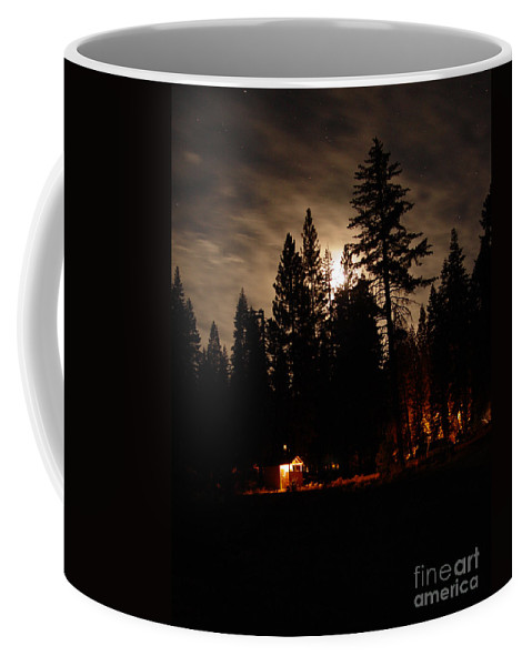 Moonlight Coffee Mug featuring the photograph Star Lit Camp by Peter Piatt
