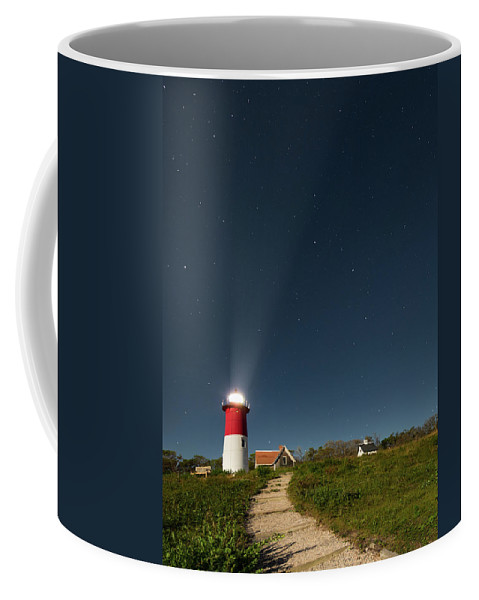 Nauset Beach Light Coffee Mug featuring the photograph Star Search by Bill Wakeley