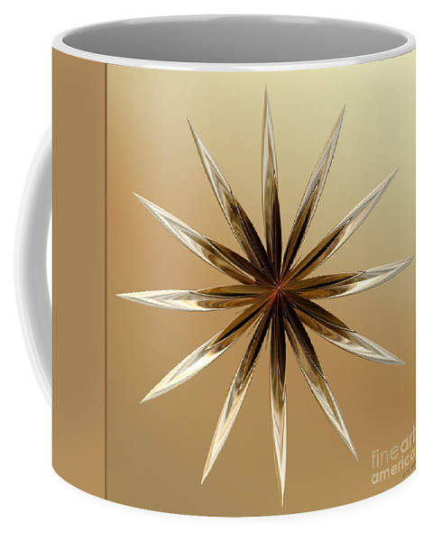 Digital Coffee Mug featuring the digital art Star Tan by Deborah Benoit