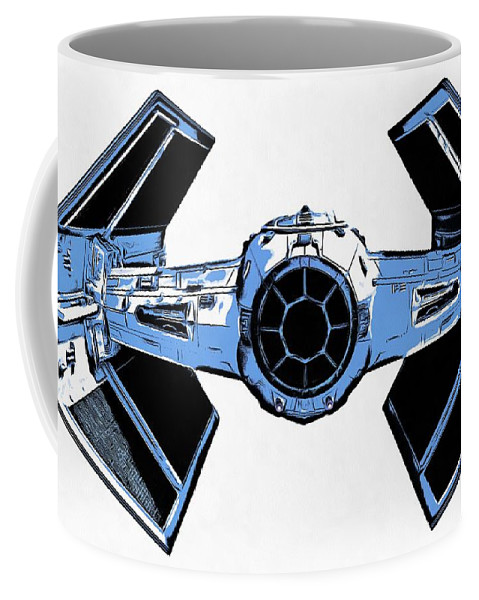 Graphic Coffee Mug featuring the photograph Star Wars Tie Fighter Advanced X1 by Edward Fielding