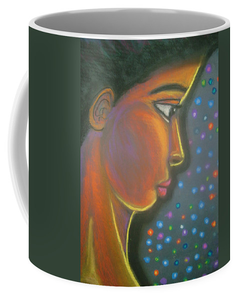 Coffee Mug featuring the drawing Starbrite by Jan Gilmore
