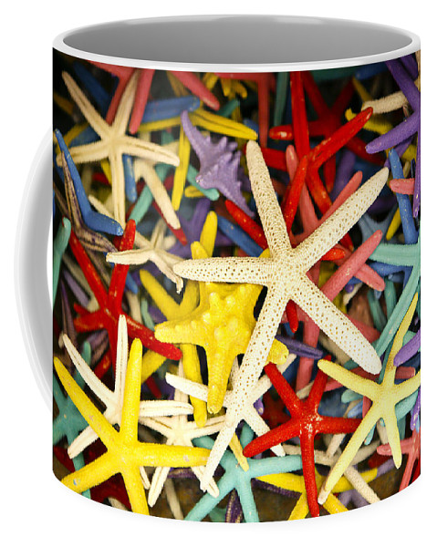 Starfish Coffee Mug featuring the photograph Starfish Dressed Up by Marilyn Hunt