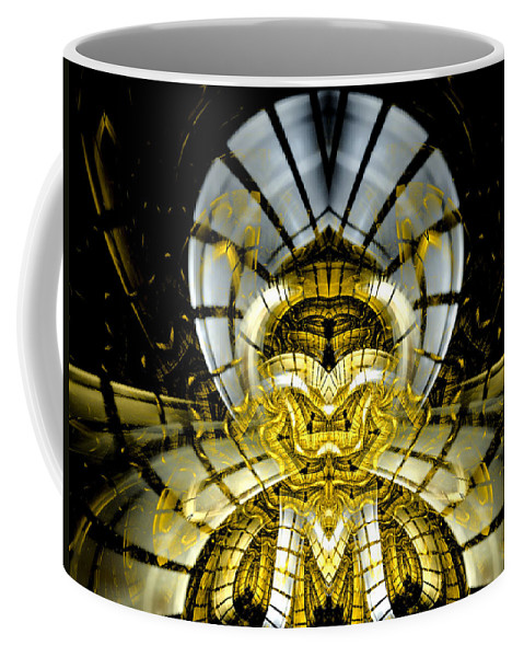 Fractal Coffee Mug featuring the digital art Stargate Electra by Amorina Ashton