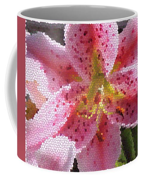 Digital Art Coffee Mug featuring the digital art Stargazer Stained Glass by Barbara Griffin