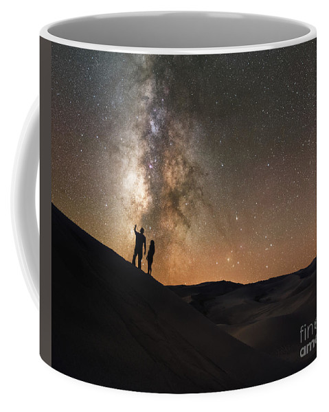 Star Crossed Lovers Coffee Mug featuring the photograph Stargazers Under The Night Sky by Michael Ver Sprill