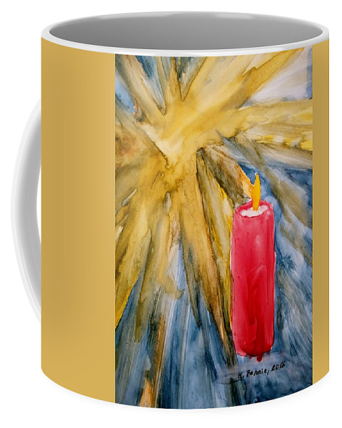Star Coffee Mug featuring the painting Starlight And Candlelight by B Kathleen Fannin