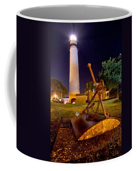 Georgia Coffee Mug featuring the photograph Starry Night Big Light by Debra and Dave Vanderlaan