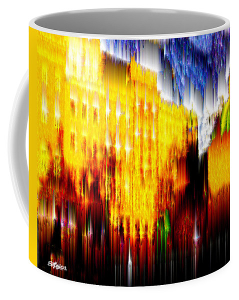 Old World Coffee Mug featuring the digital art Starry Night In Prague by Seth Weaver