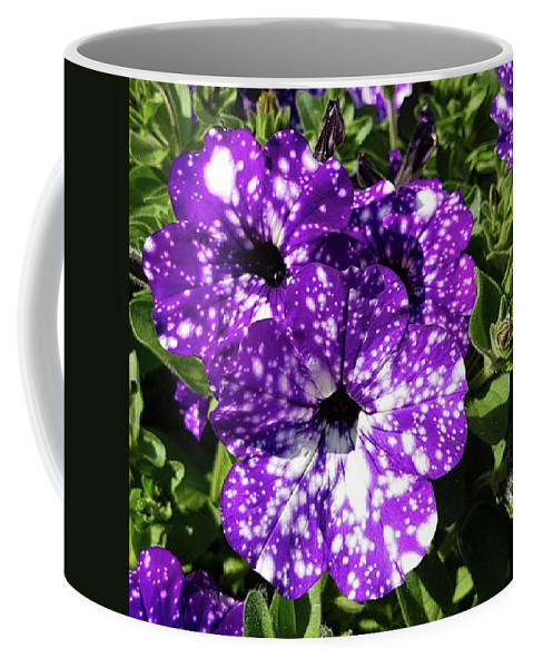 Garden Coffee Mug featuring the photograph Starry Petunias... by Rowena Tutty