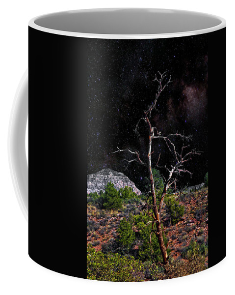 Landscape Coffee Mug featuring the photograph Star's Above by Joseph Yvon Cote