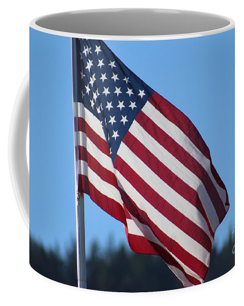 American Flag Coffee Mug featuring the photograph Stars And Stripes by LKB Art and Photography