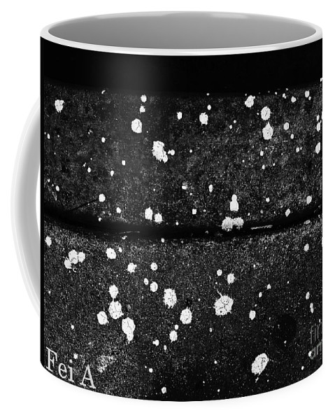 Abstract Coffee Mug featuring the photograph Stars On The Concrete by Fei A