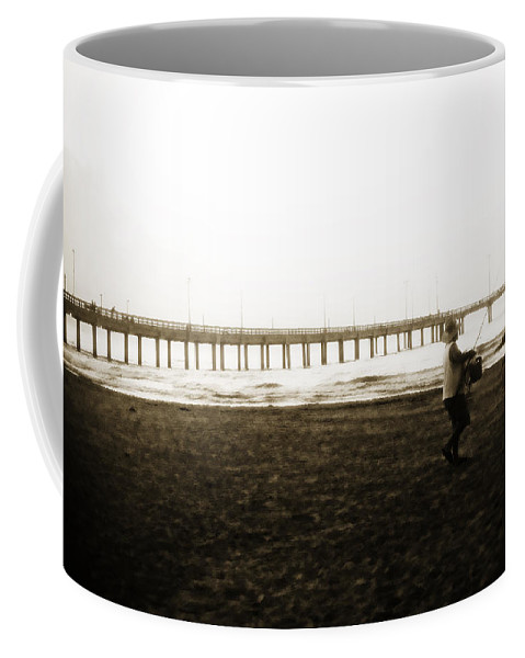 Fish Coffee Mug featuring the photograph Starting Early by Marilyn Hunt