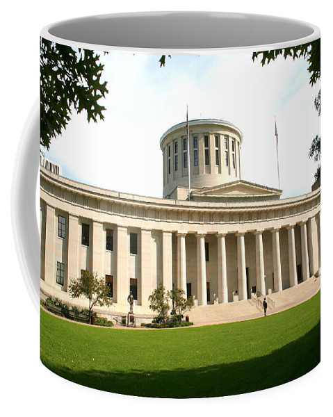 Ohio Coffee Mug featuring the photograph State Capitol Of Ohio by Laurel Talabere