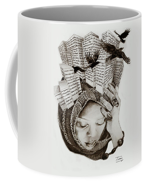 Buildings Coffee Mug featuring the drawing State Of Mind by Terri Meredith