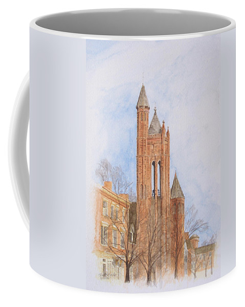 Gothic Coffee Mug featuring the painting State Street Church by Dominic White