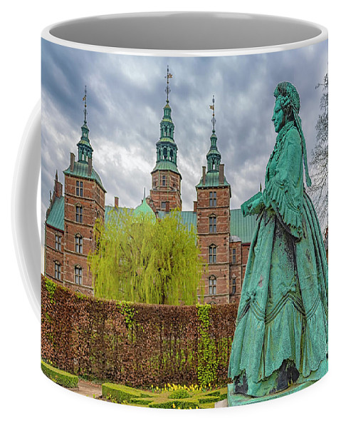 Denmark Coffee Mug featuring the photograph Statue At Rosenborg Castle by Antony McAulay