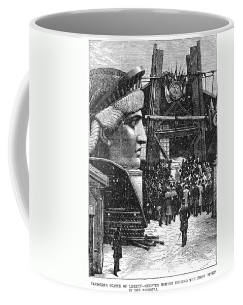 1881 Coffee Mug featuring the photograph Statue Of Liberty, 1881 by Granger