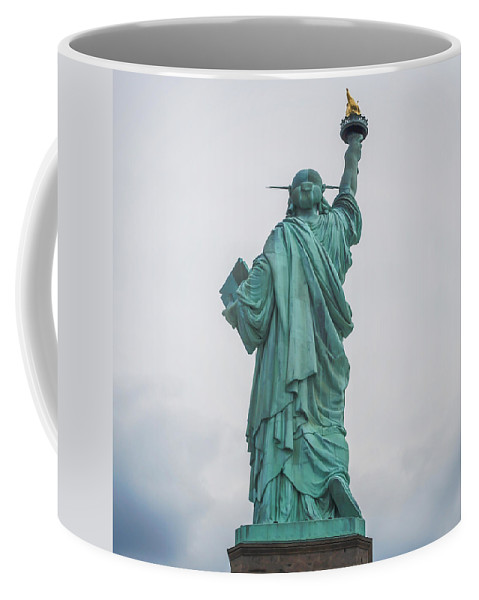 Terry D Photography Coffee Mug featuring the photograph Statue Of Liberty Back by Terry DeLuco
