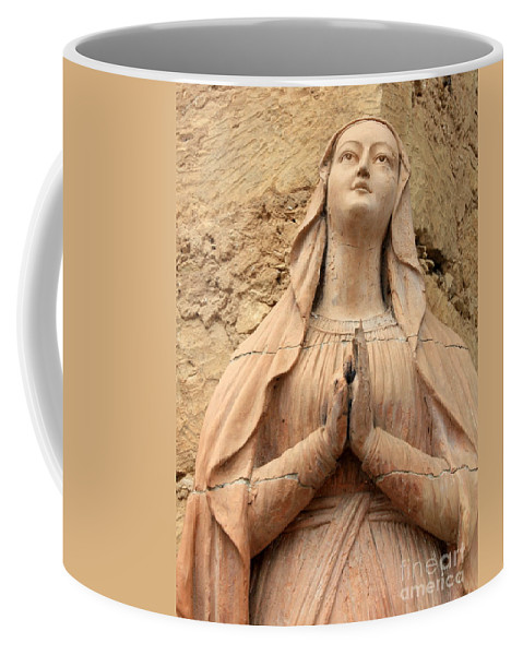 Mary Coffee Mug featuring the photograph Statue Of Mary Closeup by Carol Groenen