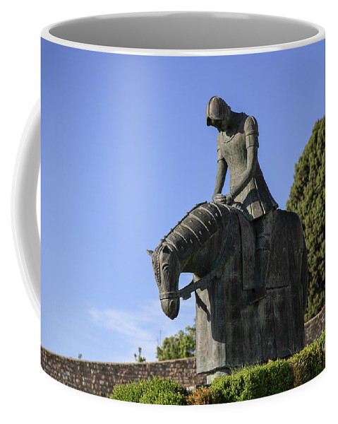Sculpture Coffee Mug featuring the photograph Statue Of St Francis Of Assisi by Vladi Alon