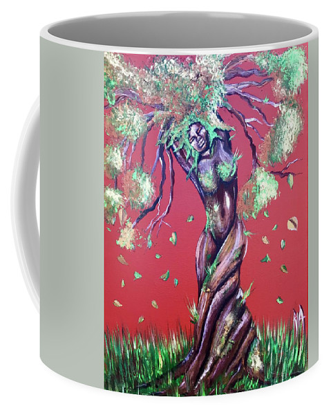 Tree Coffee Mug featuring the painting Stay Rooted- Stay Grounded by Artist RiA