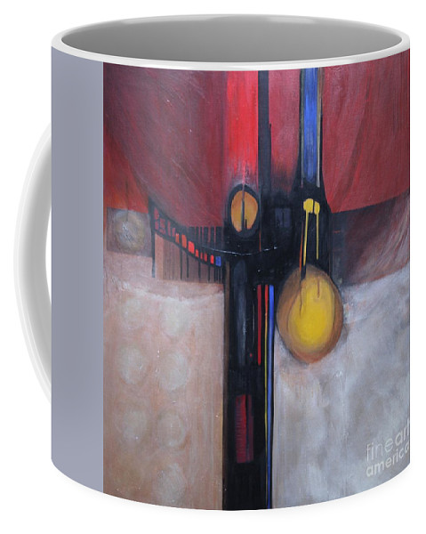Abstract Coffee Mug featuring the painting Stay True by Marlene Burns