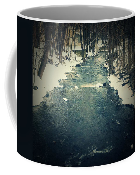 River Coffee Mug featuring the photograph Steady Flow by Amy-Elizabeth Toomey