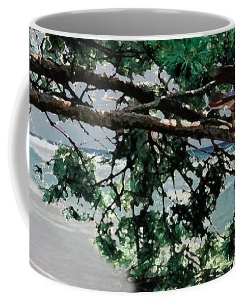 Landscape Coffee Mug featuring the painting Stealth by Steve Karol