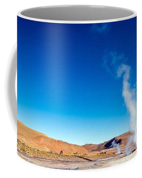 Atacama Coffee Mug featuring the photograph Steam At El Tatio Geysers by Jess Kraft
