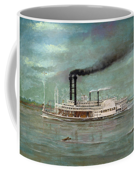 Steamboat Coffee Mug featuring the painting Steamboat Robert E Lee by War Is Hell Store