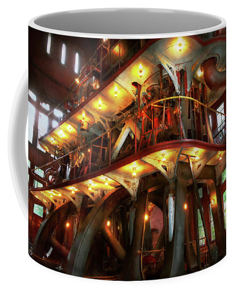 Steampunk Art Coffee Mug featuring the photograph Steampunk - Allis Does All The Work by Mike Savad