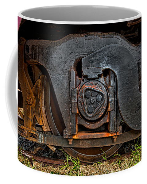 Train Coffee Mug featuring the photograph Steel Wheel Of Progess by Christopher Holmes