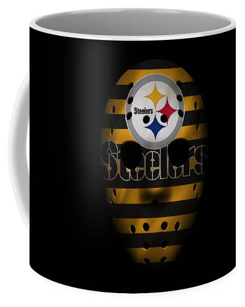 Steelers Coffee Mug featuring the photograph Steelers War Mask 2 by Joe Hamilton
