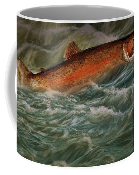 Art Coffee Mug featuring the photograph Steelhead Trout Fish No.143 by Randall Nyhof