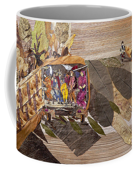 Tempo Drive To City Coffee Mug featuring the mixed media Steep Riding by Basant soni